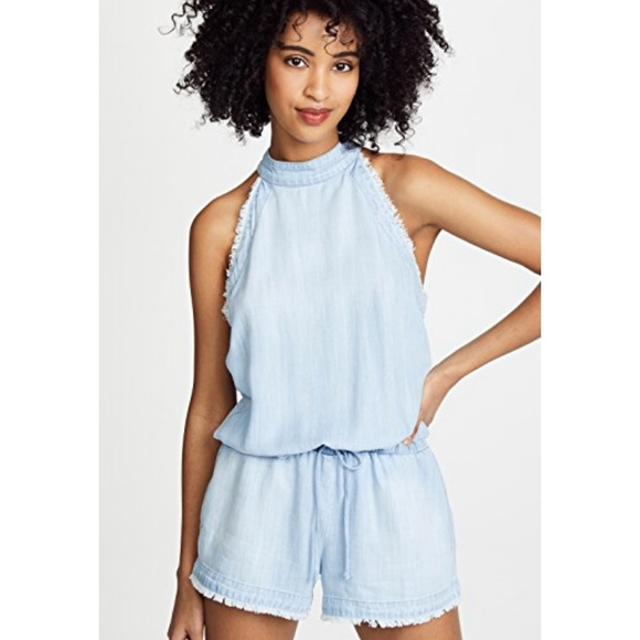 2c2658bbf74 Anthropologie Other - Anthropologie Cloth   Stone Frayed Denim Rompers